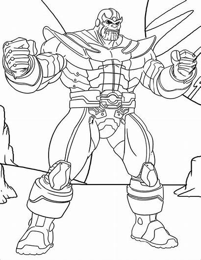 Thanos Coloring Pages Printable Sheet Marvel Avengers
