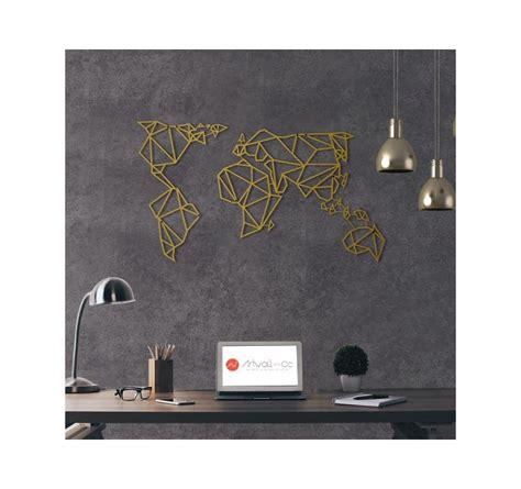 Papier Peint Carte Du Monde Gold by D 233 Coration Murale M 233 Tal Carte Du Monde
