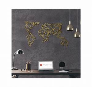 Decoration Murale Monde : d coration murale m tal gold carte du monde artwall and co ~ Teatrodelosmanantiales.com Idées de Décoration