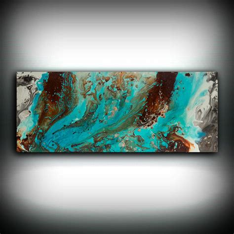 Color blocking with misty blue, brown, and ivory creates a visually stimulating appeal. Aqua Print, Blue and Brown Wall Art Decor, Colourful, Bohemian Art, Modern Minimal Aqua Blue ...