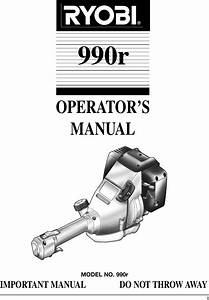 Ryobi 990r Users Manual 9340 Om