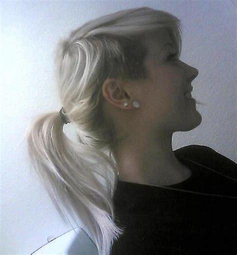 hair style side cut ponytail buen look 3653