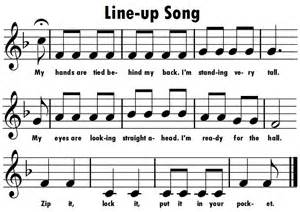 Kindergarten Line Up Song