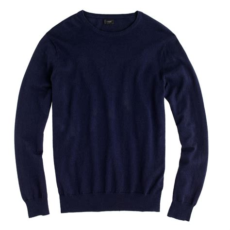 crewneck sweater j crew cotton crewneck sweater in blue for