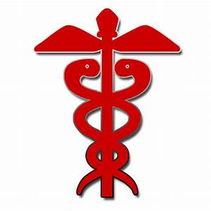 Red medical caduceus icon clipart image - ipharmd.net
