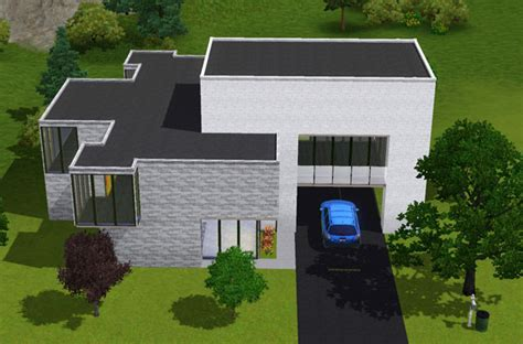 plan maison sims 3 moderne images