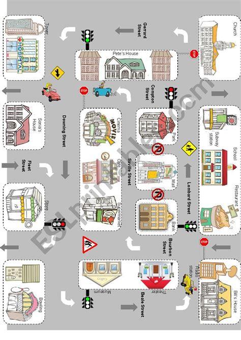 giving directions esl worksheet  joelriveramora