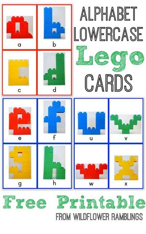 free printable letters alphabet lego cards lowercase free printable lego 31511