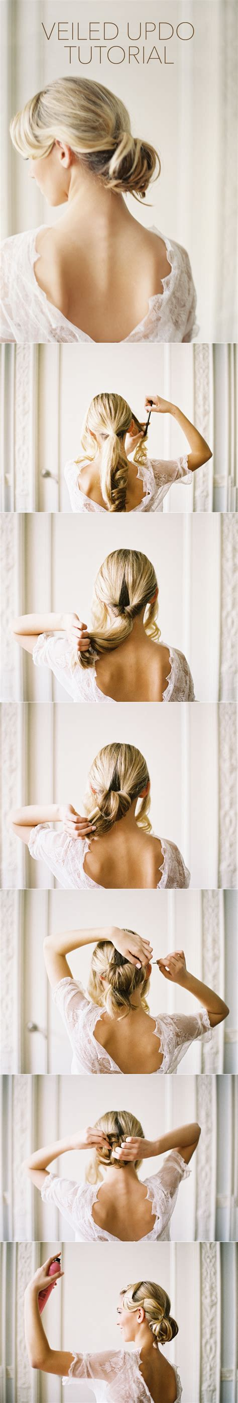 wedding hairstyles with drop veil tutorial once wed