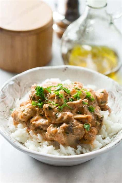 healthy chicken stroganoff primavera kitchen