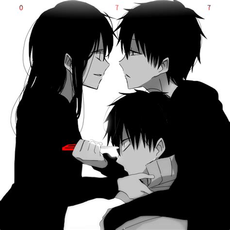anime couple black and white wallpaper untitled image 3294345 by taraa on favim com