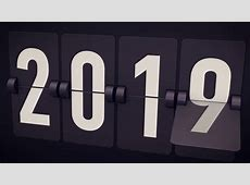 20182019 New Year concept Set of digital countdown