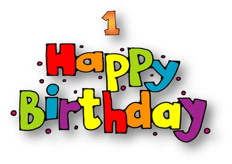 Words clipart happy birthday, Words happy birthday ...
