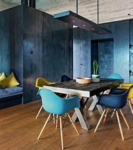107 idees fantastiques pour une salle a manger moderne With salle À manger contemporaine avec style scandinave bleu