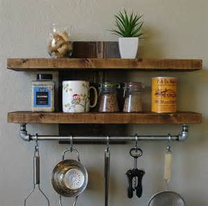 kitchen pot rack ideas industrial rustic kitchen wall shelf spice rack with by keodecor