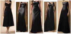black dresses for bridesmaids wedding dresses gallery black bridesmaid dresses