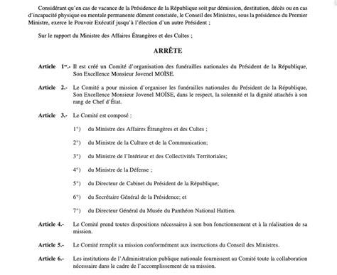 14, 2021 / 1:02 pm. LE MONITEUR Spécial No 38 - Lundi 12 Juillet 2021 - HAITIAN-TRUTH.ORG Proud to be Haiti's most ...