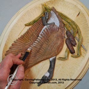 canada goose  relief wood carving project classic