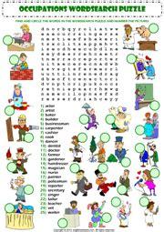 jobs esl printable worksheets  exercises