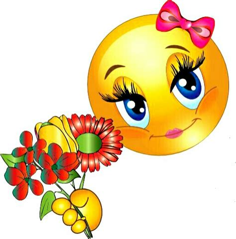 cute smiley  flowers emoticons pinterest smiley