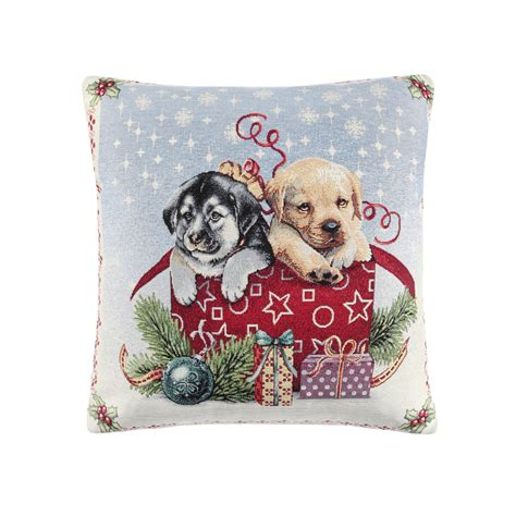 Cuscini Natale Cuscino Gobelin Sta Natalizia Cani With Cuscini Natale