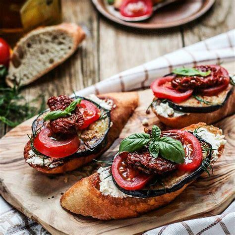 bruschetta aubergine tomates sechees cuisine aubergine