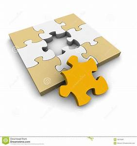 Jigsaw Puzzle With Missing Piece Royalty Free Stock ...