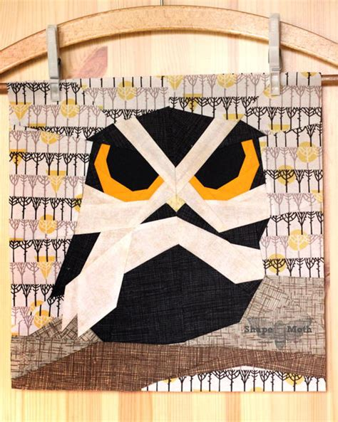 owl paper piecing block favequiltscom