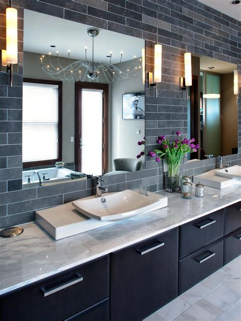 Contemporary Bathroom Vanity Images by 9 Bold Bathroom Tile Designs Hgtv S Decorating Design