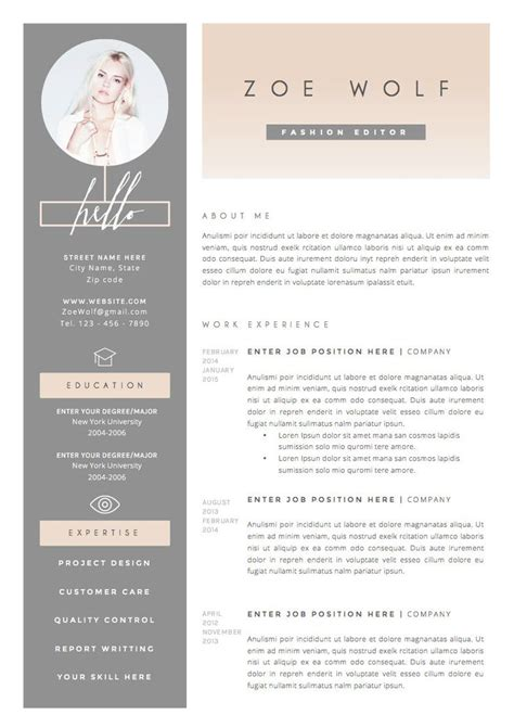 Design Resume Template by Best 25 Fashion Resume Ideas On Fashion Cv