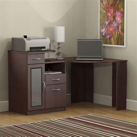 Bush Vantage Corner Desk by Bush Vantage Corner Home Office Harvest Cherry Computer