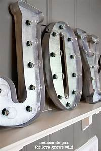 diy vintage marquee letters love this marquee letters With how to make metal marquee letters