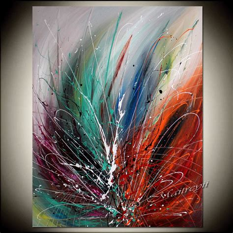 Abstrakte Kunst Leinwand large wall abstract painting modern by