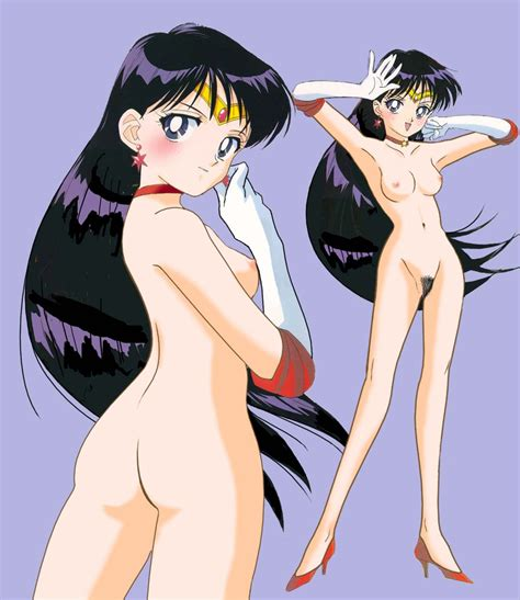 90s bishoujo senshi sailor moon hino rei nude nude filter sailor mars simple background third