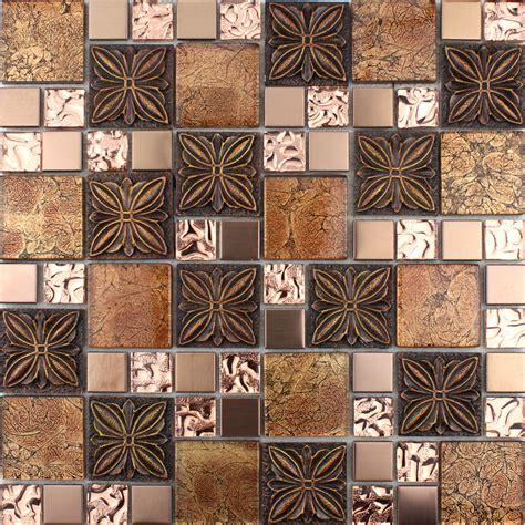 Glass Tile Brown Glass Mosaic Tiles Crystal Glass Tile