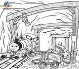 Coloring Coal Mine Sodor Template sketch template