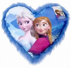 Coussin Reine Des Neiges : disney coussin coeur la reine des neiges ~ Mglfilm.com Idées de Décoration