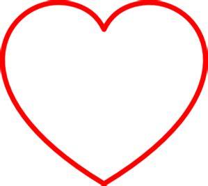 red heart outline clip art  clkercom vector clip art