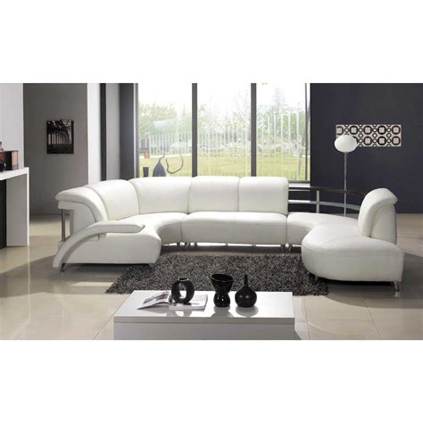 Curved White Leather Sofa White Leather Couch Curved Thesofa