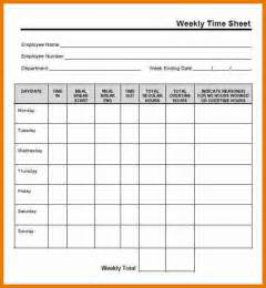 Free Weekly Attendance Sheet Template