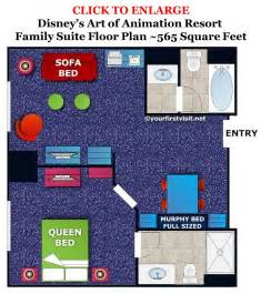 open floor plan living room photo tour of a finding nemo family suite at disney 39 s