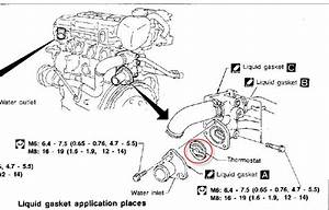 1999 Nissan Frontier Thermostat Location