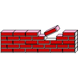Building Clipart Brick Wall Pencil And In Color