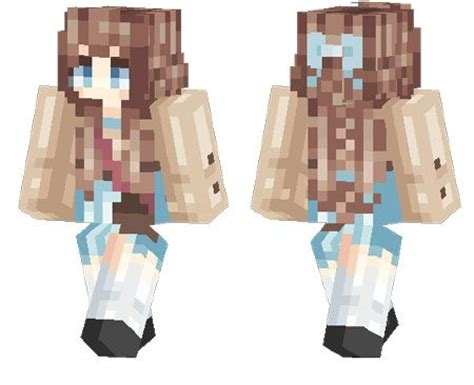 summer girl  skin  minecraft pe  mcpe box