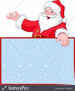 Blank Christmas Invitation Background Christmas Santa Claus Over Blank Greeting Place Card
