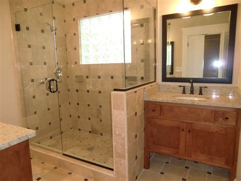 New Designs For Bathrooms by Master Bath Features His N Hers Vanities Amp Travertine Tile