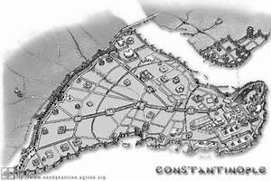 Constantinople - the map of the Byzantine City