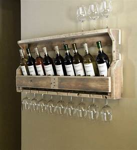 Simple But Cool Wall Mounted Homemade Wine Rack Made From