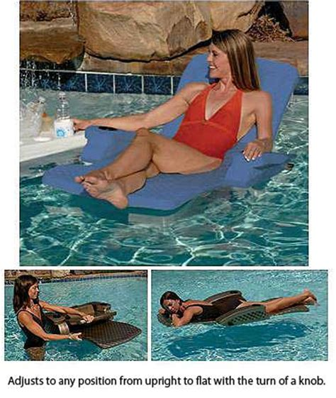 reclining pool float unsinkable adjustable reclining pool lounger