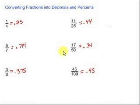 New Converting Fractions To Decimals Youtube Decimal